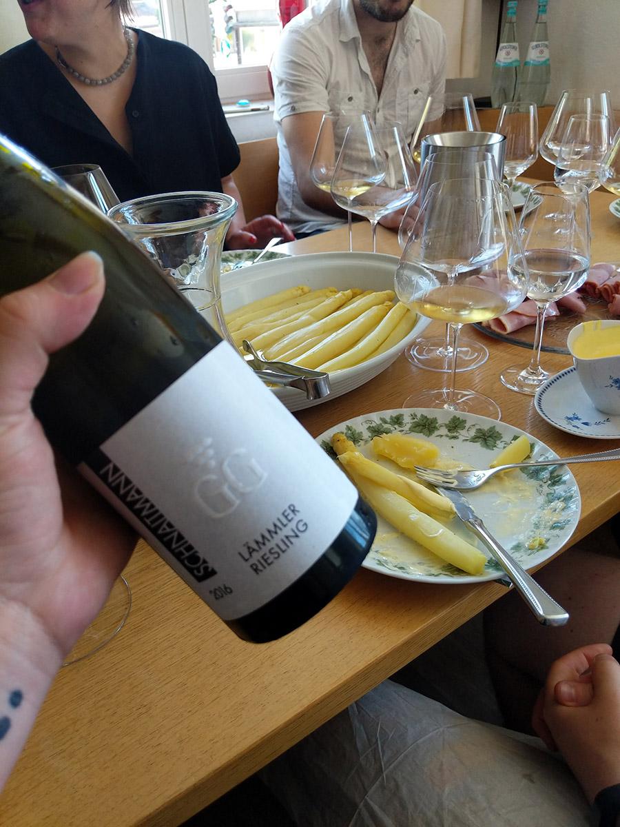 Lammler Riesling Wine Tasting